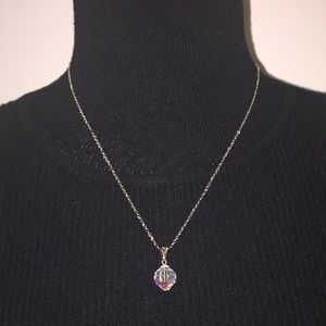 Fashion Jewelry Silver Tone Necklace with Pendant